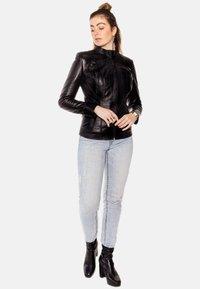 LEATHER HYPE - ARYAN - Leather jacket - black - 5