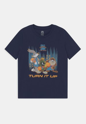 SPACE JAM IN THE BOX TEE - T-shirt print - dark blue
