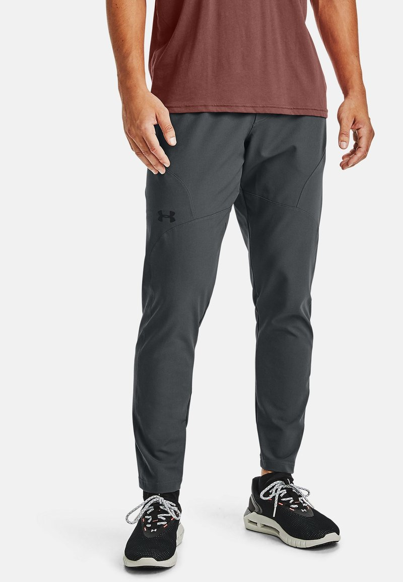 Under Armour - Tracksuit bottoms - pitch gray