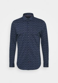 Tommy Hilfiger Tailored - FLORAL KNIT SLIM - Formal shirt - navy iris/classic blue/white - 0