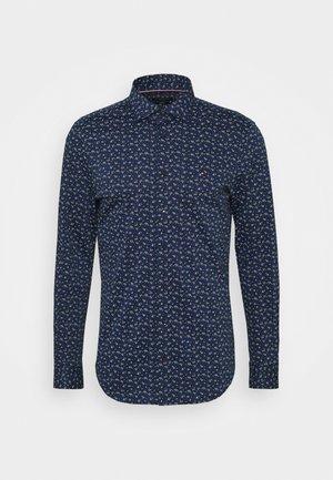 FLORAL KNIT SLIM - Formal shirt - navy iris/classic blue/white