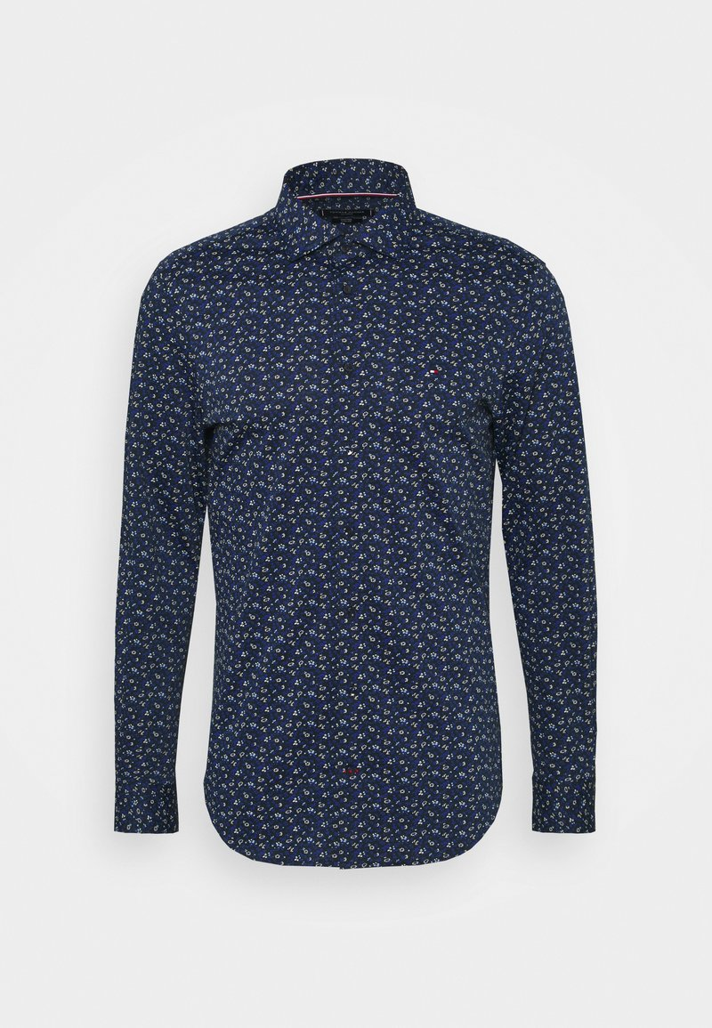 Tommy Hilfiger Tailored - FLORAL KNIT SLIM - Formal shirt - navy iris/classic blue/white