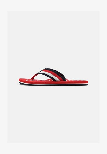 T-bar sandals - primary red