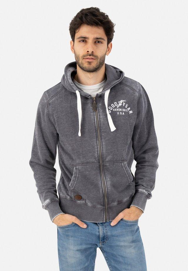 OHIO CITY - Zip-up hoodie - marl navy