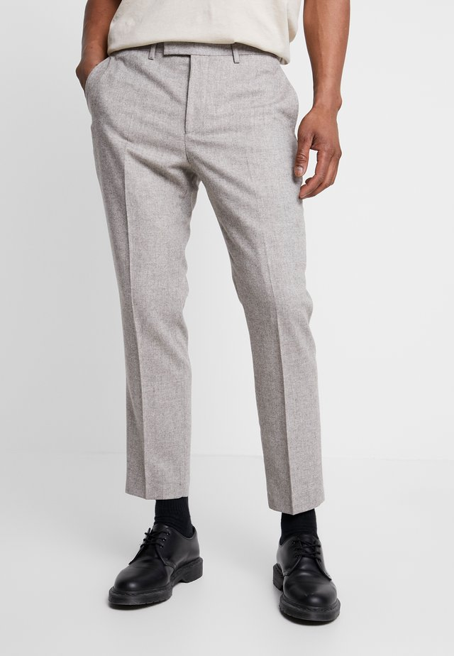 MOONLIGHT TROUSER - Tygbyxor - taupe