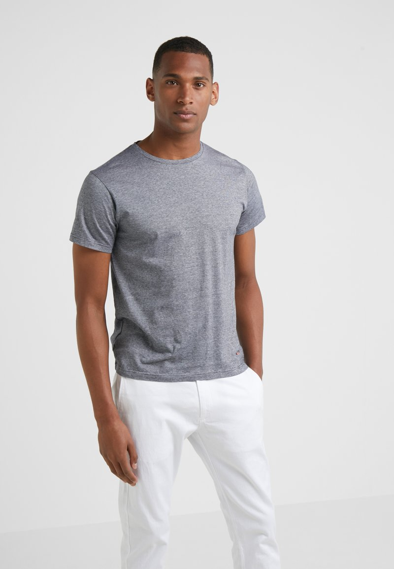 Hackett London - FINE STRIPE TEE - T-Shirt print - navy/white