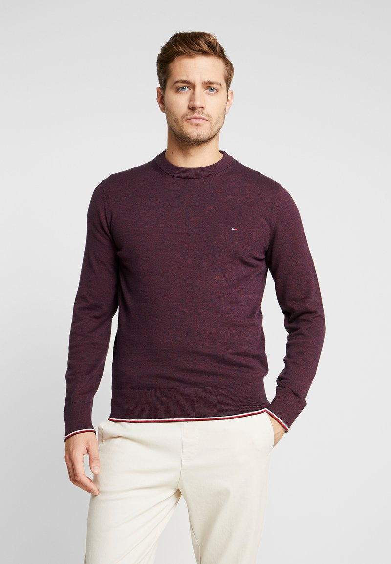 Tommy Hilfiger - TIPPED CREW NECK - Stickad tröja - red