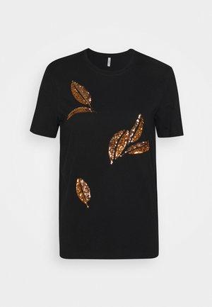 ONLKITA LIFE LEAF BOX - Print T-shirt - black/big leaves