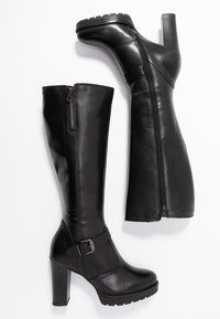 Anna Field - LEATHER BOOTS - Boots med høye hæler - black - 3