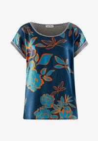 Alba Moda - Print T-shirt - marineblau,orange - 4