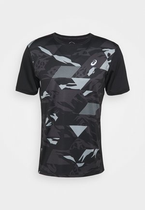 FUTURE CAMO - Triko s potiskem - performance black
