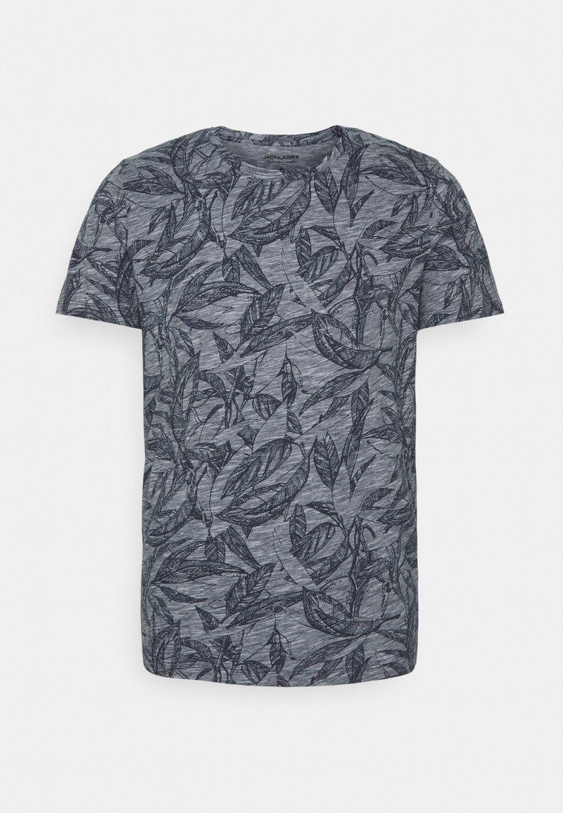 Jack & Jones - JORLEFO TEE CREW NECK - T-shirt con stampa - navy blazer