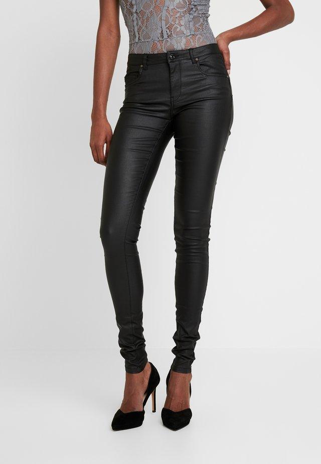 ONLLOULOU PUSHUP COAT PANTS - Spodnie materiałowe - black