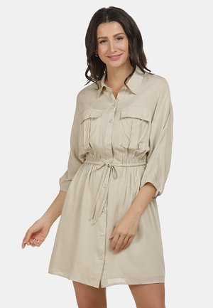 Sukienka koszulowa - hellbeige