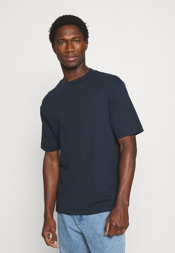 MOCK NECK TEE - Basic T-shirt - preppy navy