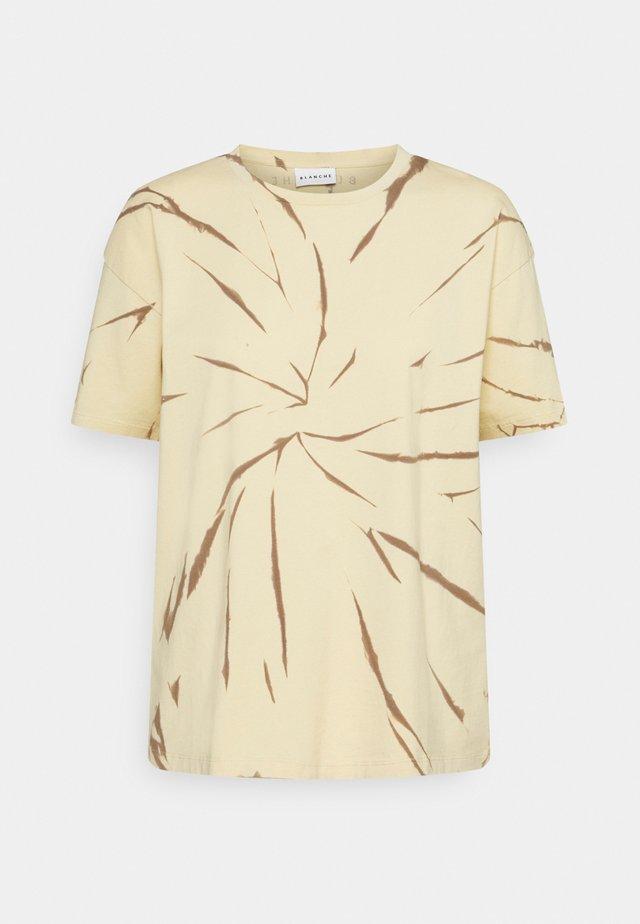 MAIN TIE DYE - Print T-shirt - marzipan