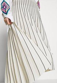 MRZ - PLEAT SKIRT - Plisovaná sukně - beige/black - 4