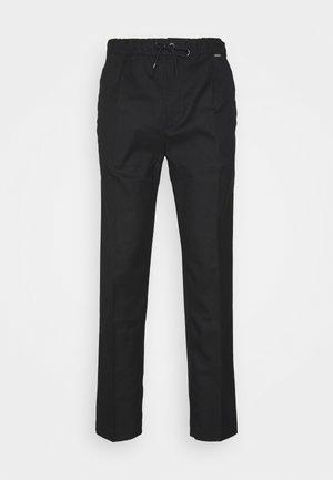 TAPERED ELASTIC DRAWSTRING PANT - Kalhoty - black