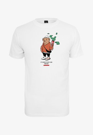 HERREN BEAR MONEY  - T-shirt imprimé - white