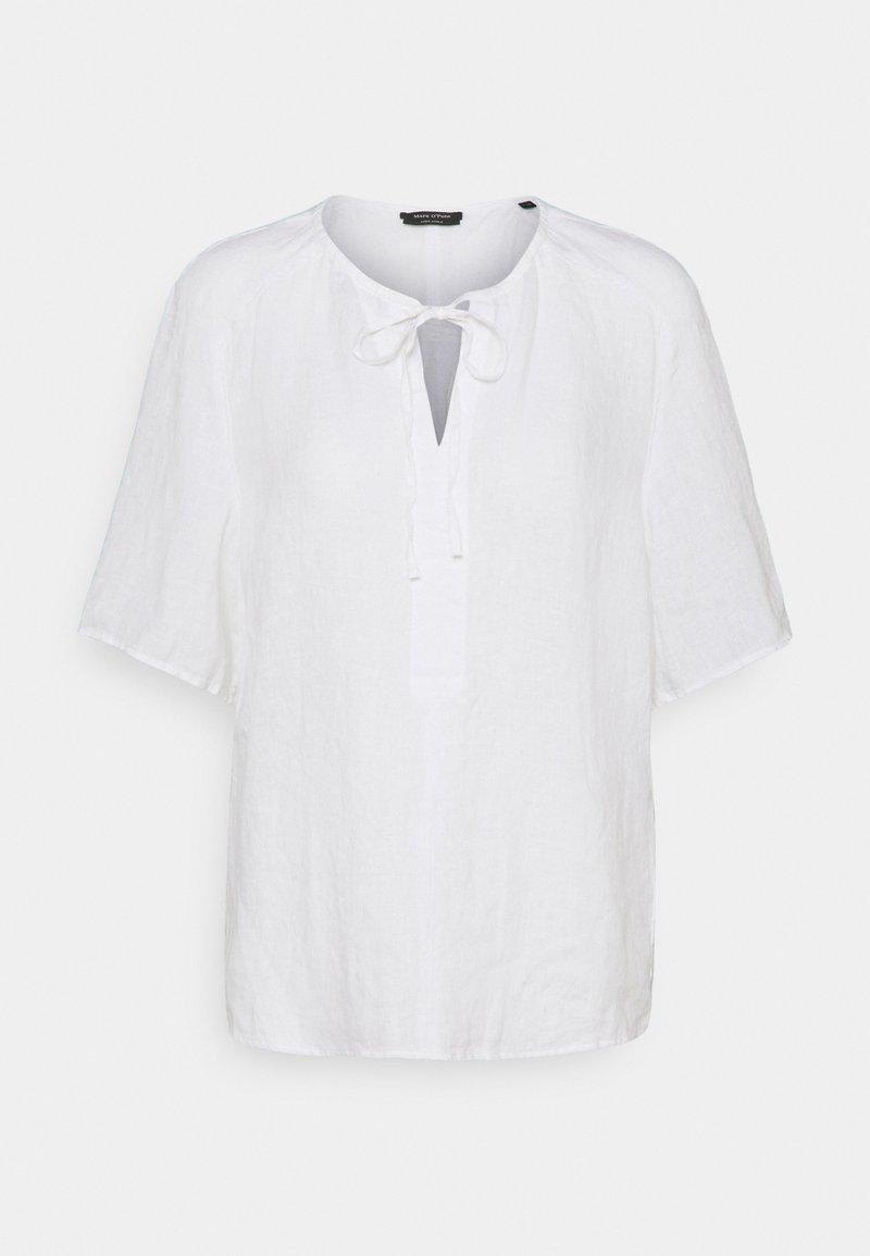 Marc O'Polo - BLOUSE SHORT SLEEVE TUBE-TAPE - Print T-shirt - white