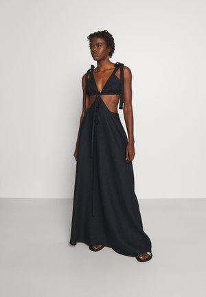 CUT OUT TIE DRESS - Galajurk - black