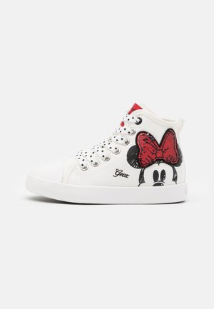 Disney Minnie Mouse GEOX JUNIOR CIAK GIRL - High-top trainers - offwhite/red