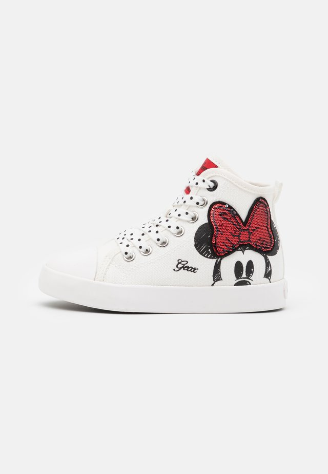 Disney Minnie Mouse GEOX JUNIOR CIAK GIRL - Sneakers alte - offwhite/red