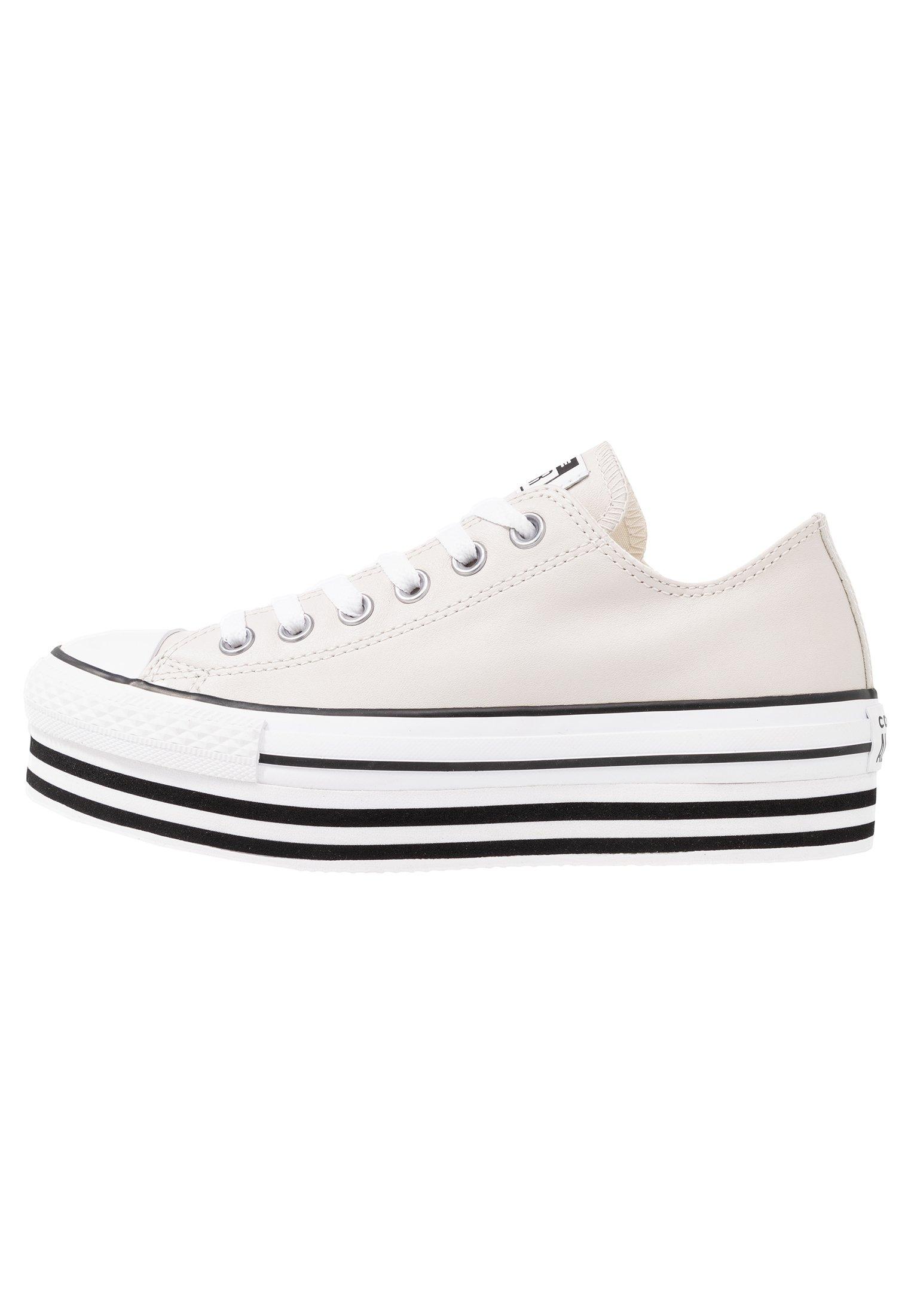 Converse CHUCK TAYLOR ALL STAR LAYER BOTTOM - Joggesko - pale putty/white/black