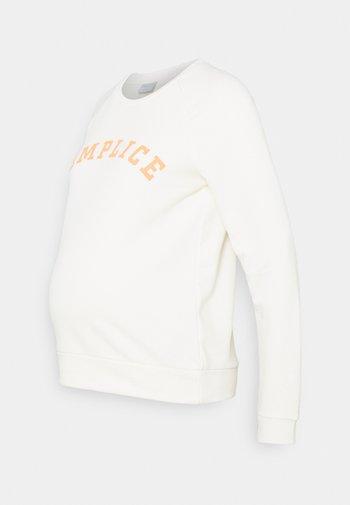 PCMLECILIE - Sweatshirt - cloud dancer