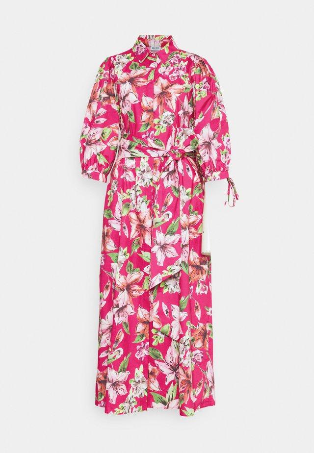 ABITOLUNGO POPELINE - Długa sukienka - fuxia