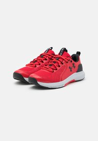 Under Armour - CHARGED COMMIT TR  - Sports shoes - red/halo gray/black - 1