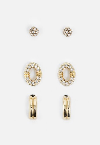 PAVE TRIO 3 PACK - Earrings - gold-coloured/cry