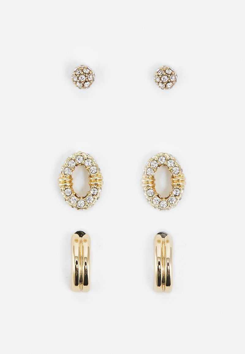 Lauren Ralph Lauren - PAVE TRIO 3 PACK - Earrings - gold-coloured/cry