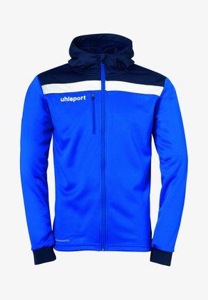 Zip-up sweatshirt - azurblau/marine/weiß