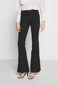 Victoria Victoria Beckham - SPLIT HEM TUXEDO TROUSER - Spodnie materiałowe - black - 0