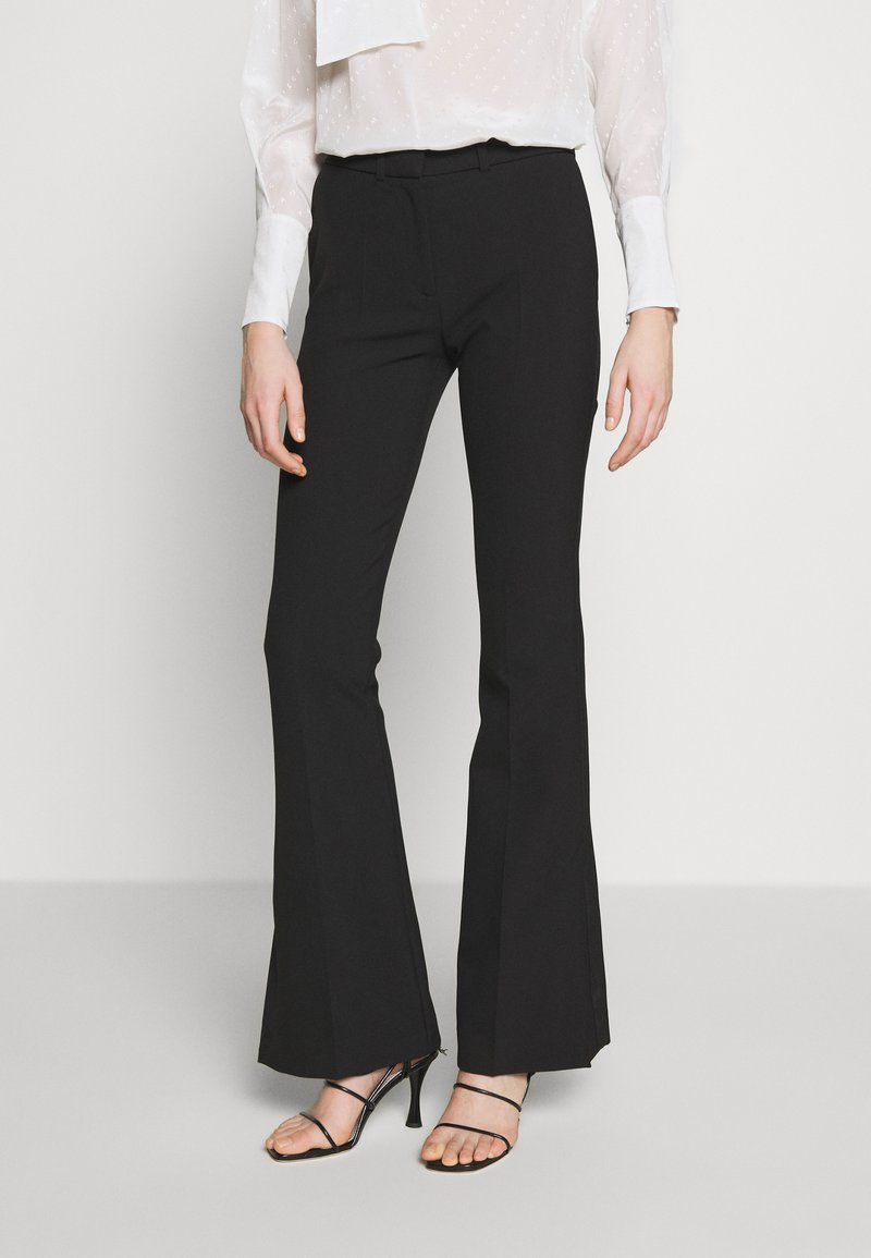 Victoria Victoria Beckham - SPLIT HEM TUXEDO TROUSER - Spodnie materiałowe - black