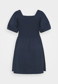 Vero Moda Curve - VMALINA SHORT SMOCK DRESS - Jersey dress - navy blazer - 1