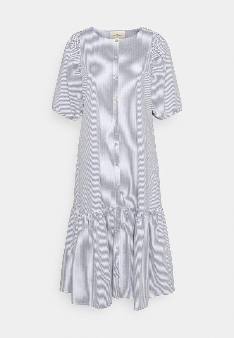 esmé studios - VIVIAN SS MIDI OVERSIZE DRESS - Shirt dress - blue/white