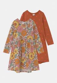 Cotton On - FREYA LONG SLEEVE 2 PACK - Jersey dress - roasted almond/sum grey - 2