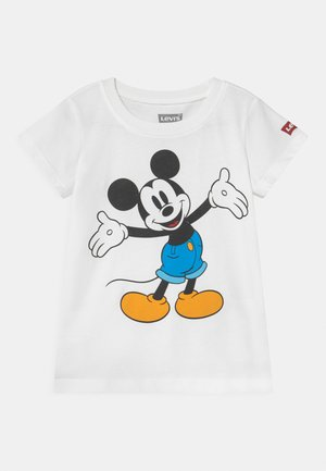 MICKEY MOUSE HAPPY - T-shirt z nadrukiem - white