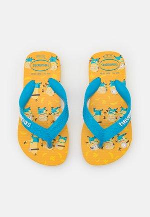 MINIONS UNISEX - T-bar sandals - gold yellow