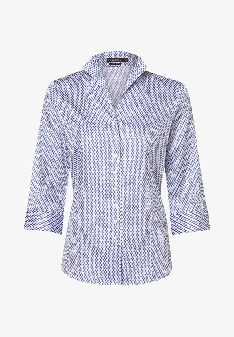 Franco Callegari - Button-down blouse - indigo/weiß