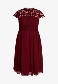 Chi Chi London Curvy - ELLA LOUISE DRESS - Robe de soirée - wine asjoey dress - 4
