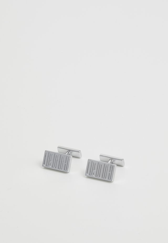 E-LOGO - Cufflinks - silver-coloured