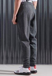 Superdry - MONO URBAN - Tracksuit bottoms - twisted black grit - 1