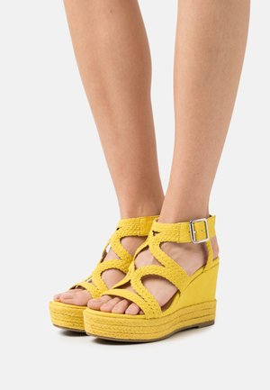 taupe - High heeled sandals - yellow