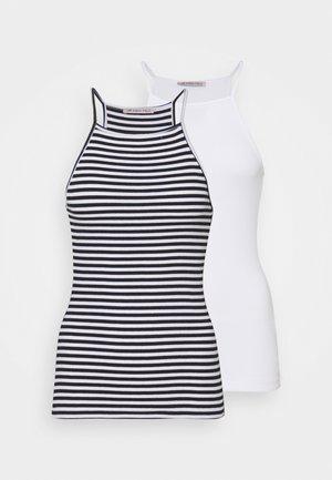 2 PACK - Top - white/black