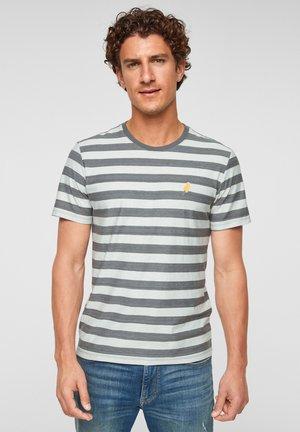 T-shirt print - grey stripes