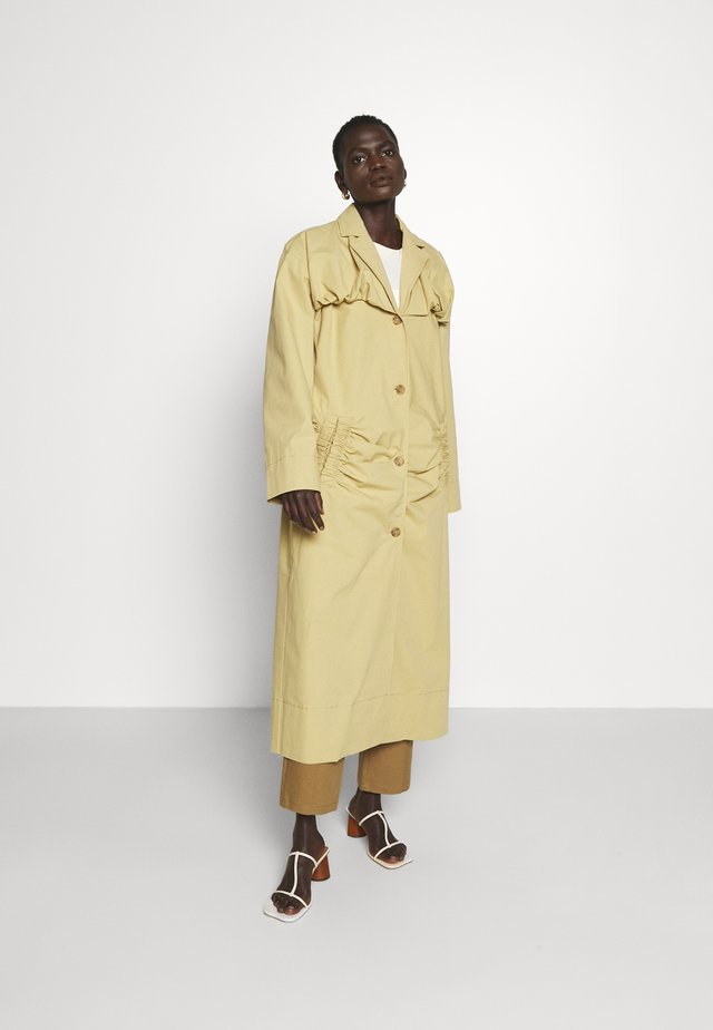 DYLAN TRENCH - Trenchcoat - cotton olive green