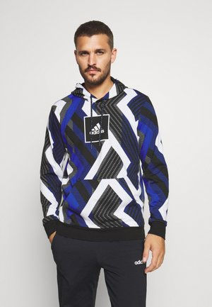 HOODIE - Sweat à capuche - white/royal blue/grey four/black